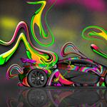 Wallpapers, tony kokhan, abstract, multicolors, side, mclaren, aerography, el tony cars