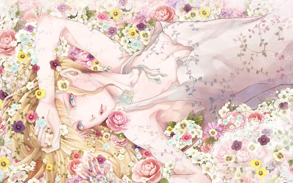 Fragrant flower woman is only beautiful to see anime wallpaper