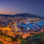 Monaco laogou harbor night scenery desktop wallpaper