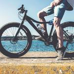 Bicycle, legs, cyclist wallpaper