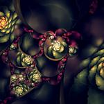 Buds, abstraction, patterns, shapes, graphics, flowers