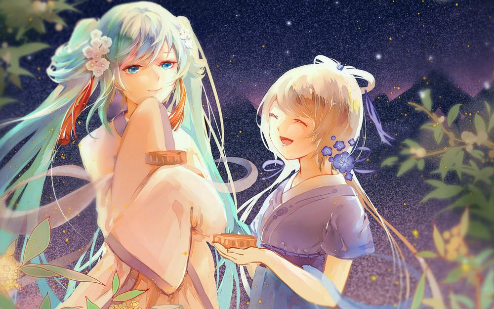 Vocaloid luo tianyi's primary sound future china wind mid-autumn festival wallpaper