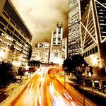 Roads, cities, night, country, lights, people, skyscrapers