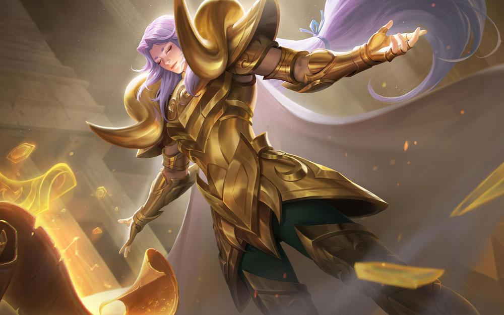 King glory zhang liang gold aries wallpaper