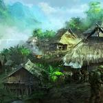 Jungle, river, military, village, mourad, waterfall, soldiers
