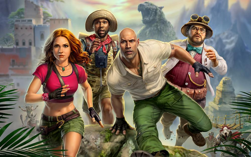 """brave game"" jumanji: the video game wallpaper"