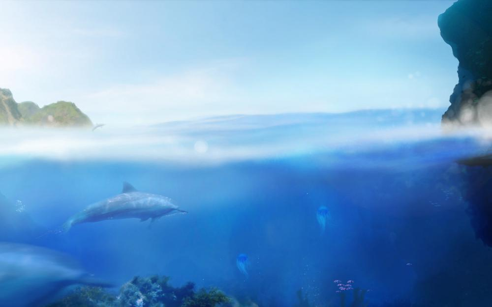 Ecco the dolphin, jellyfish, games, water, sea, fish, games