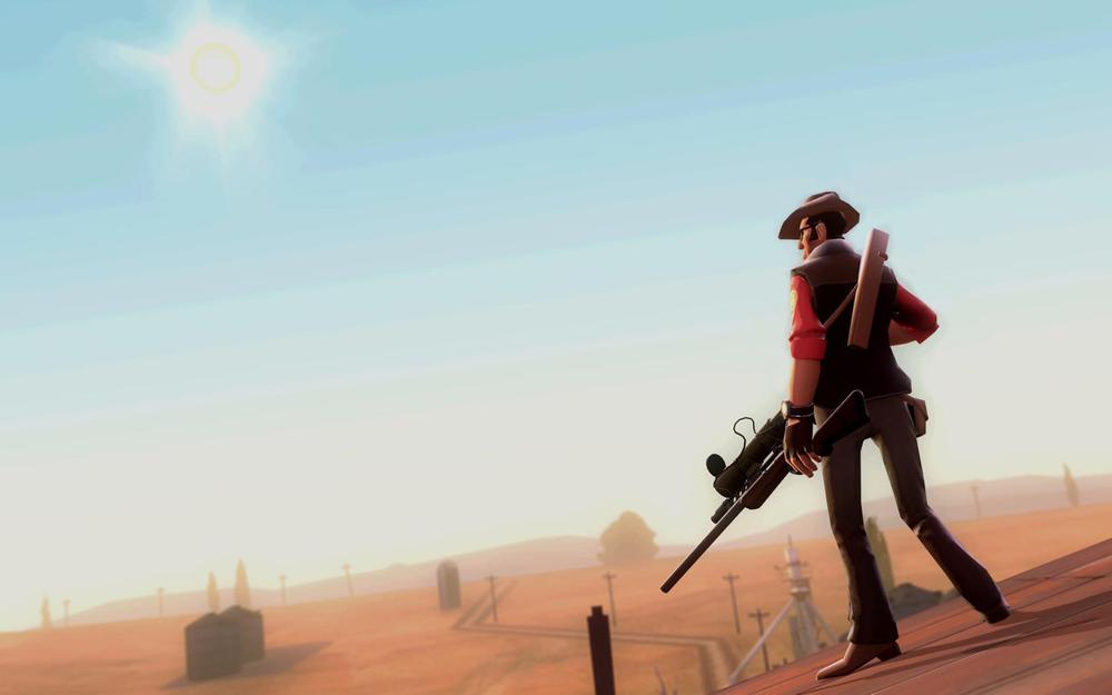 Sniper, canyon, game, team fortress 2