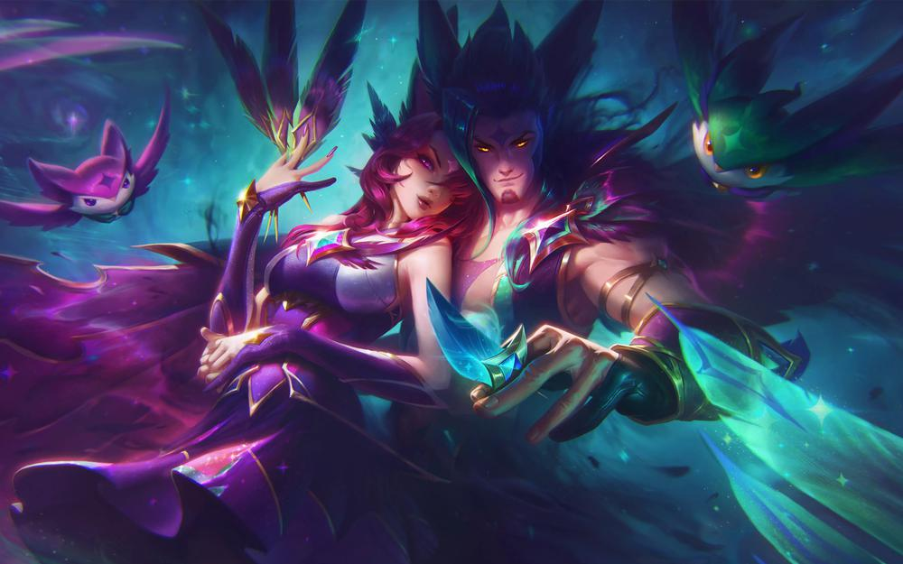 League of legends lol new skin star guardian luohe xia wallpapers