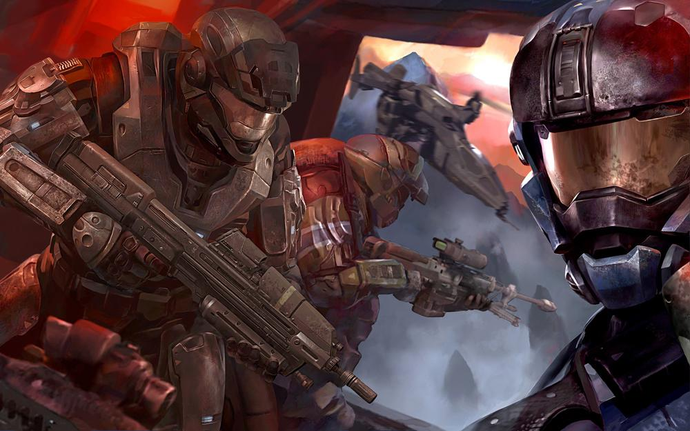 Halo reach, fighters, game, weapon