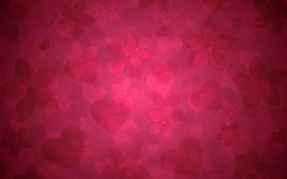 Hearts, graphic, background, flowers