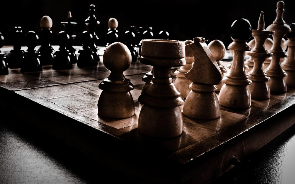Darkness, chess, games, figures, shadows, chess, games