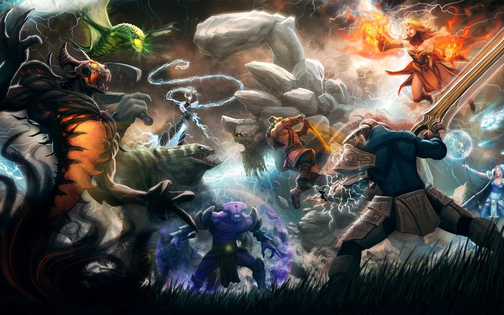 Dota2 a group of hero wallpaper