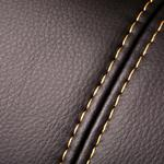 Seam leather material texture