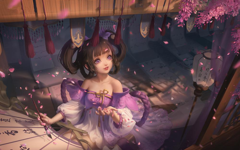 Xiao qiao-lilac knot glory wallpaper
