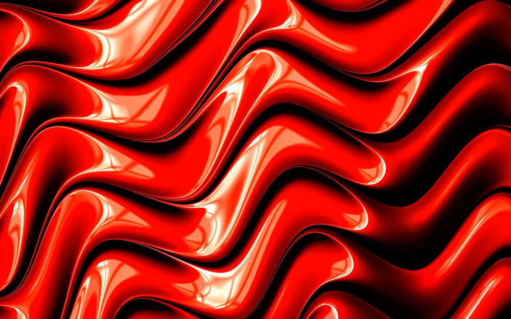 Red, fractal, graphic