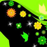 Graphics abstraction girl flowers graphics abstract girl flowers wallpaper
