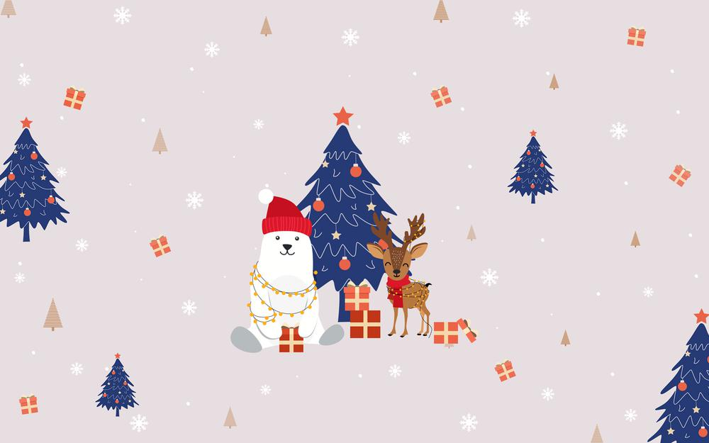 Christmas cute background wallpaper