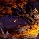 Autumn halloween ghost night wallpaper