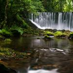 Galicia waterfall natural landscape super clear wallpaper
