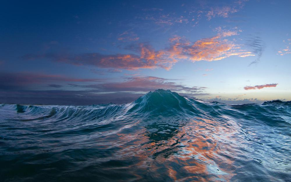 Wave, nature, sunset, water, ocean