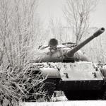 Tank, winter, cannon