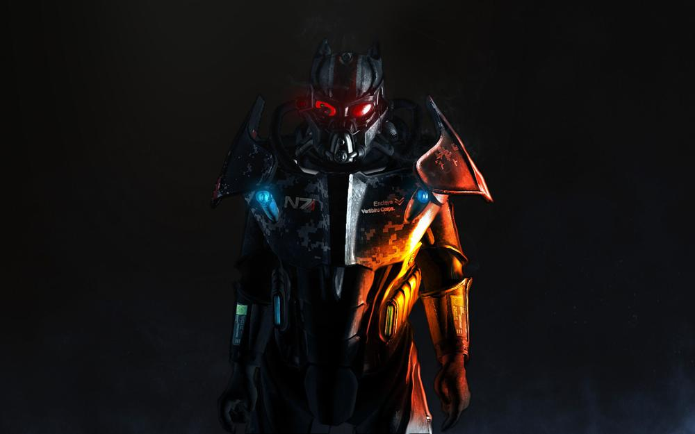 Steel, enclave powered armor, armor, fallout 3, n7