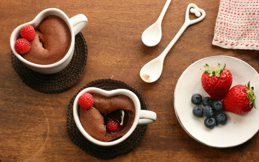Coffee with strawberries