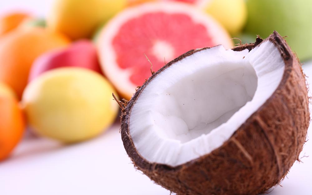 Coconut with fruit