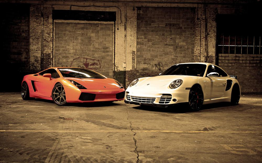 Porshe and lamborgini. wallpaper