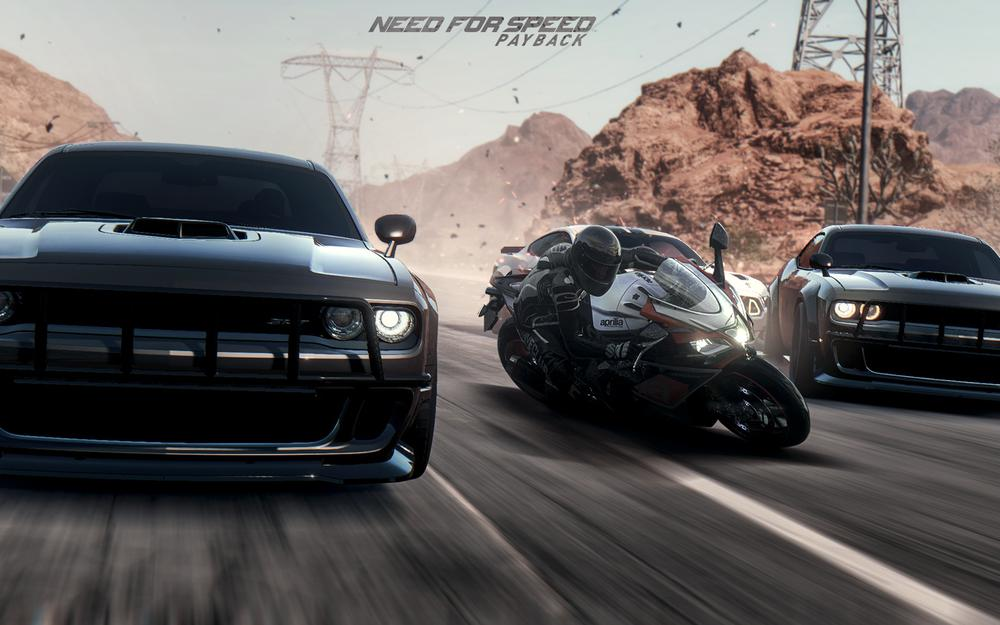 Photoshop, payback, arcade, racing, desert, wcp, action, simby, cars, action, racing, moto, dodge challenger