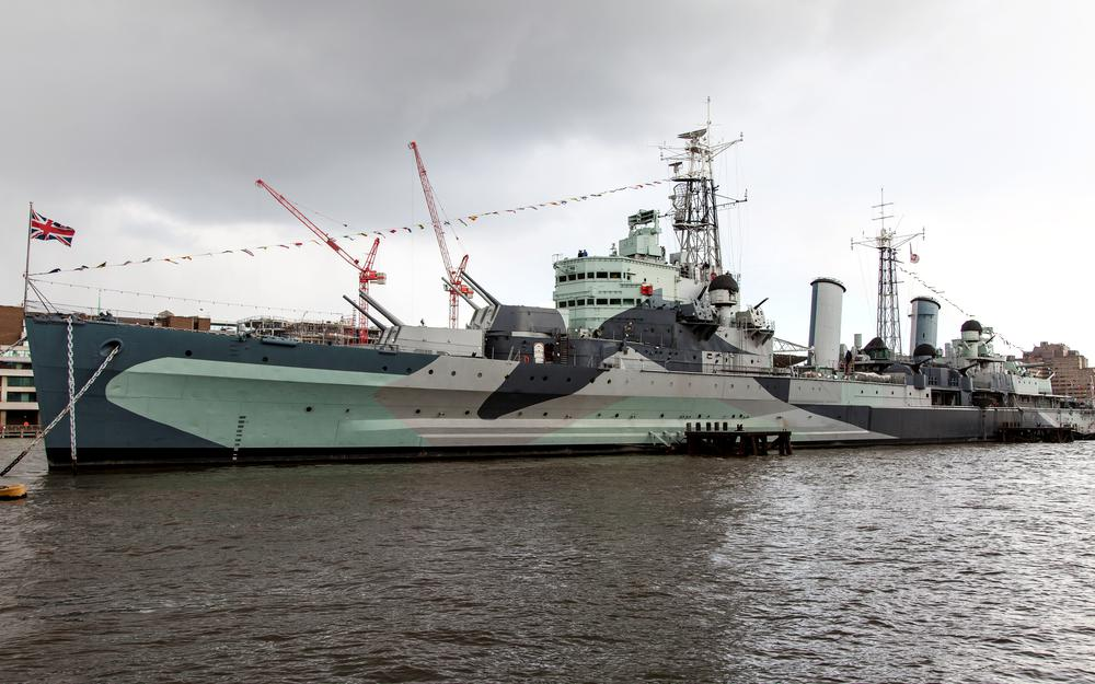 British, hms belfast, cruiser, floating military museum, thames river, moored forever between tower and london …