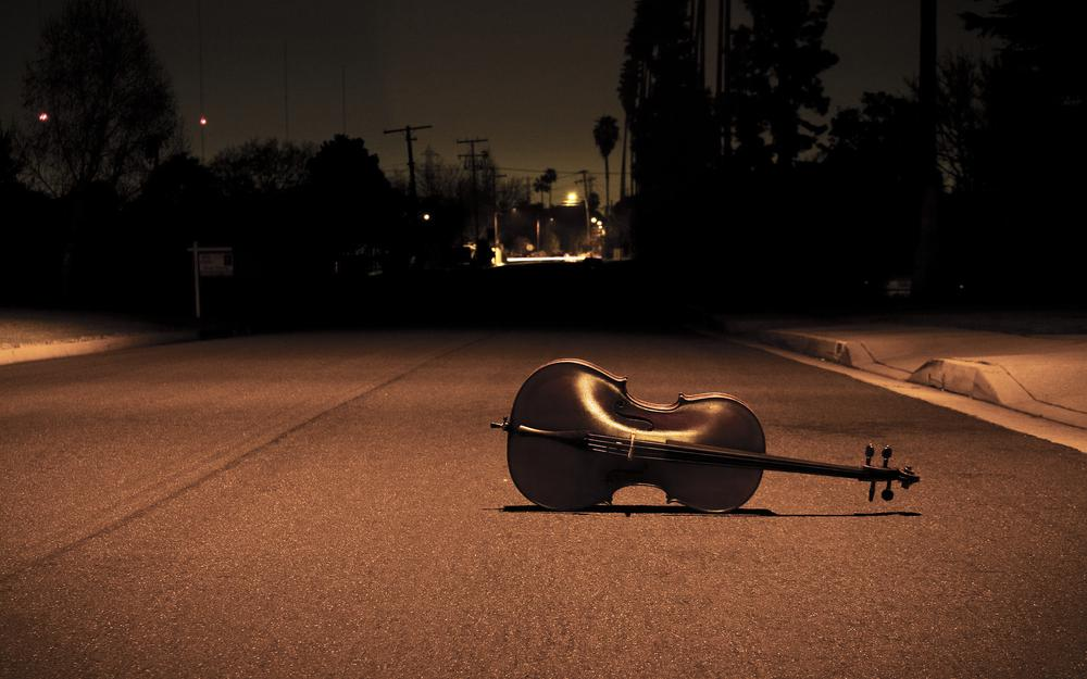 Alone, light, loneliness, music, street, song, tool