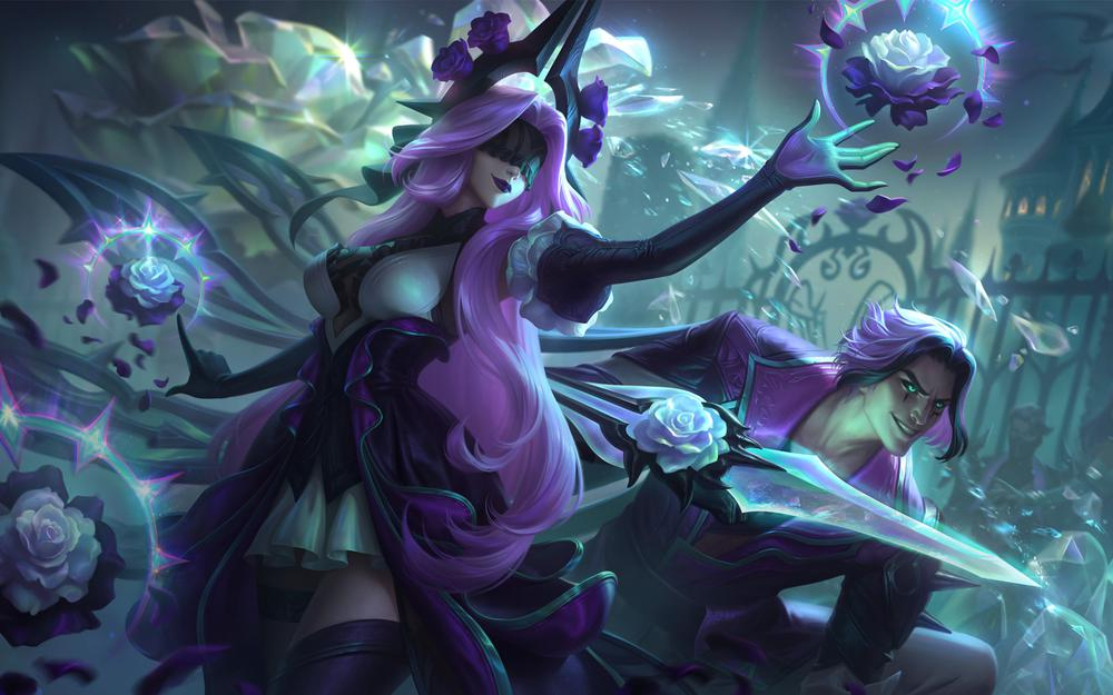 League of legends lol withered roses double-headed sindra knife sharding tailong wallpaper