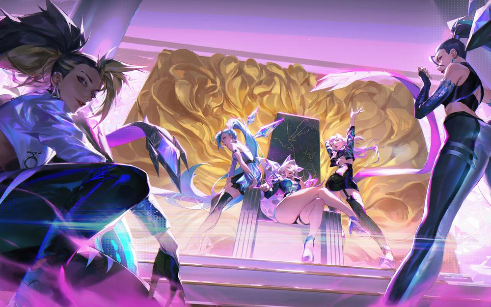 League of legends seraphine kda all out, cael, sachene, lol wallpapers