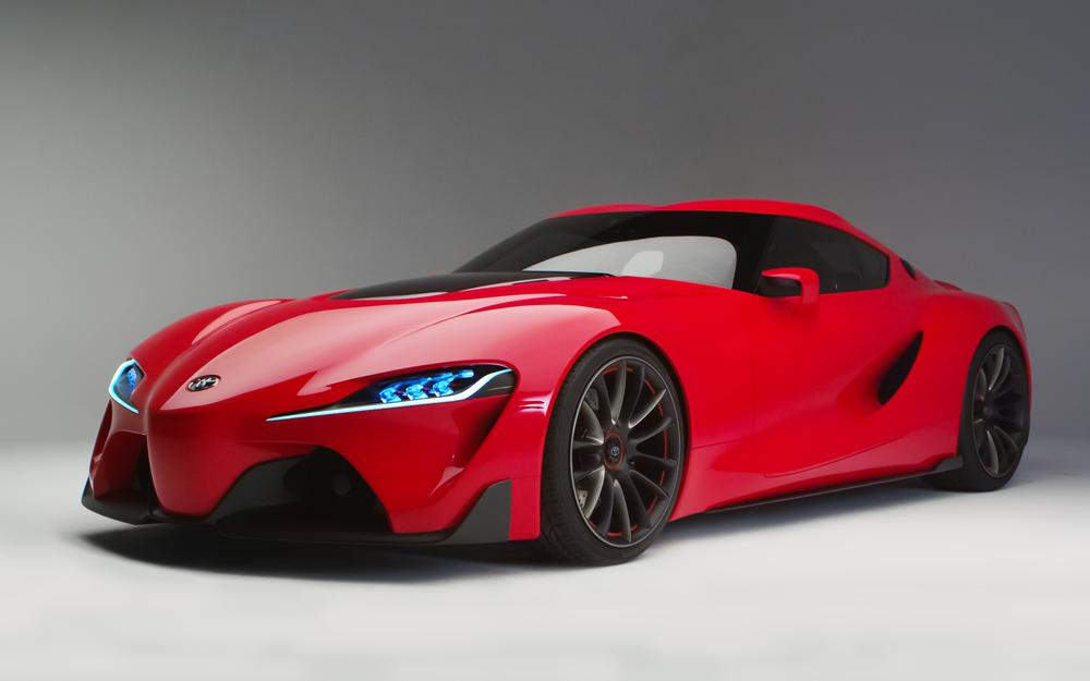 Red, sports coupe, toyota ft-1, car, concept