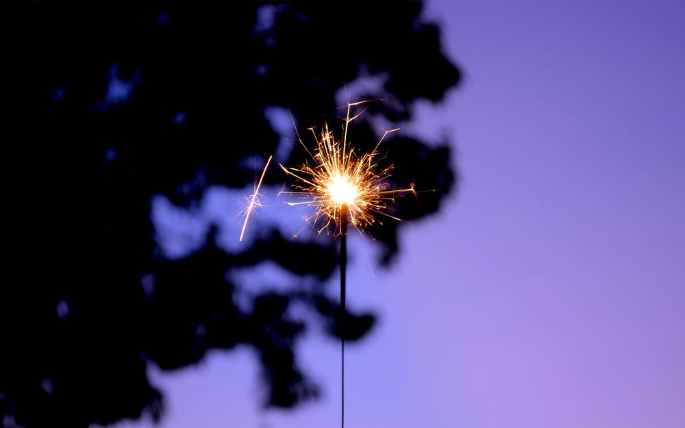 Sparks, twilight, mood, holiday, bengal fire