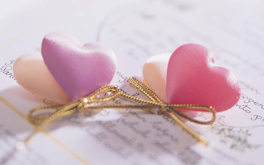 Gently, bunch, hearts
