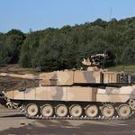 Forest, equipped, tank, leopard 2 pso, for cleaning, dawn, with hydraulic drive