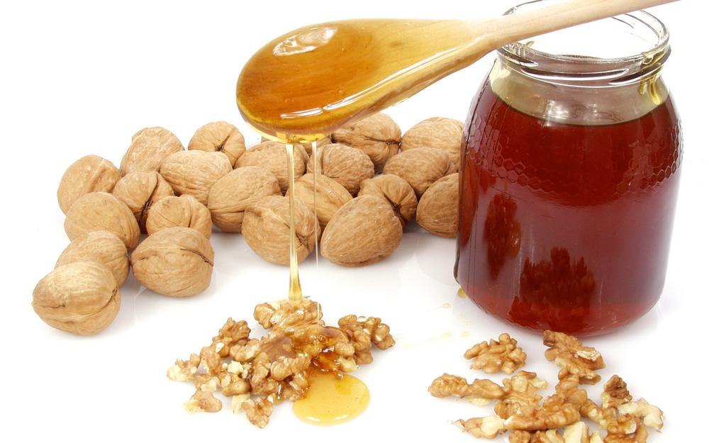 Honey with nuts …. mmm