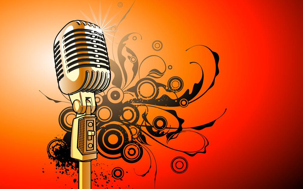 Microphone, sounds, vector