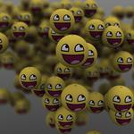 Laughing emoticons 3d