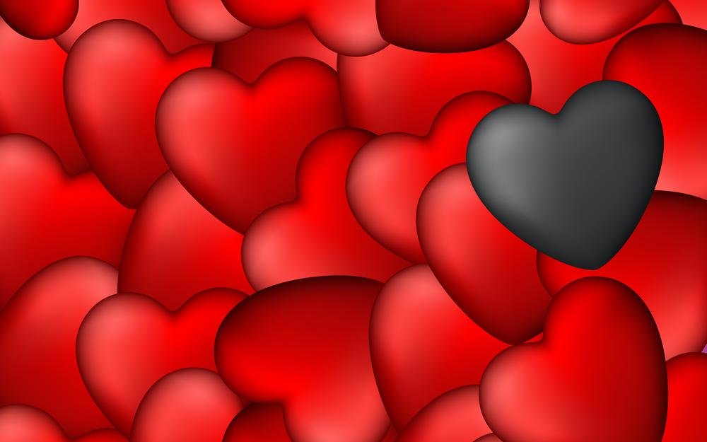 Art, red, hearts