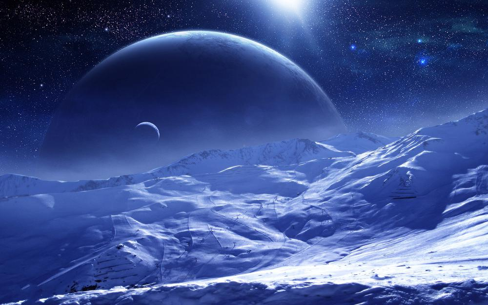 Planets, surface, snow