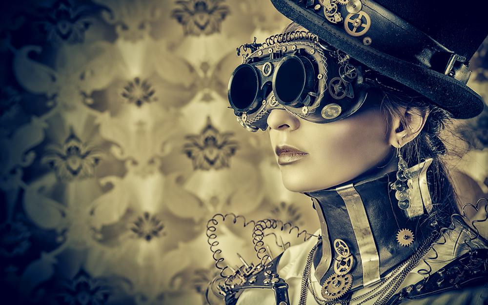 Steampunk, style, wires, glasses