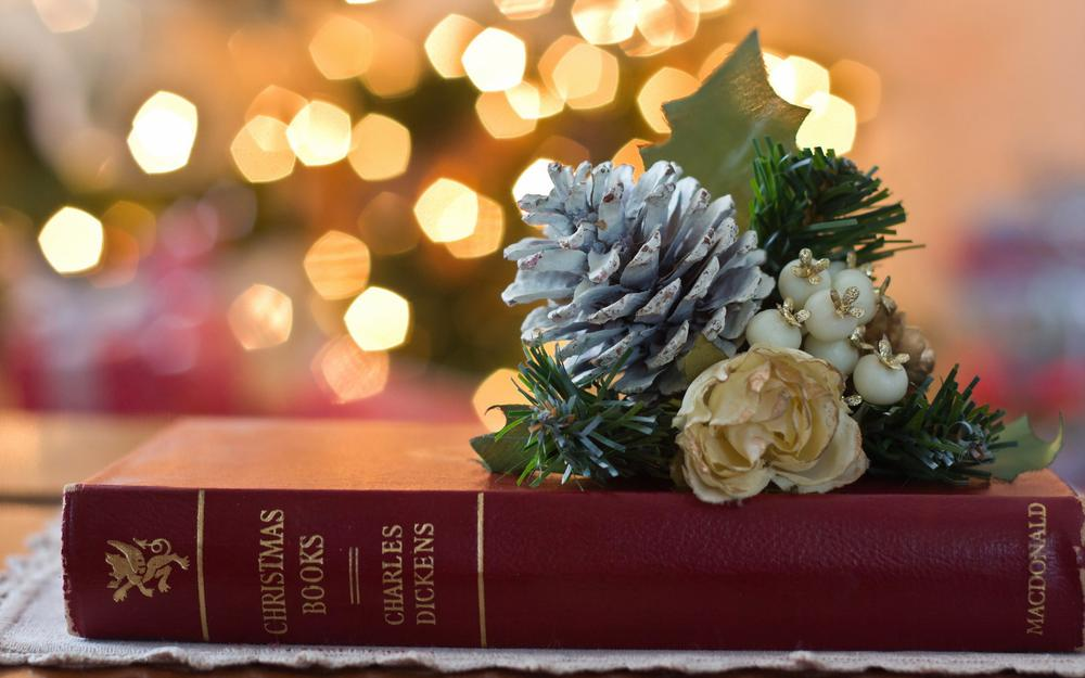 Book with decorations hd wallpaper