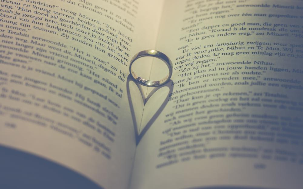 Ring, heart, book