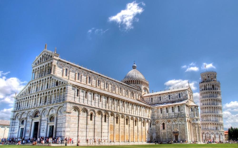 Pisa cathedral with tower