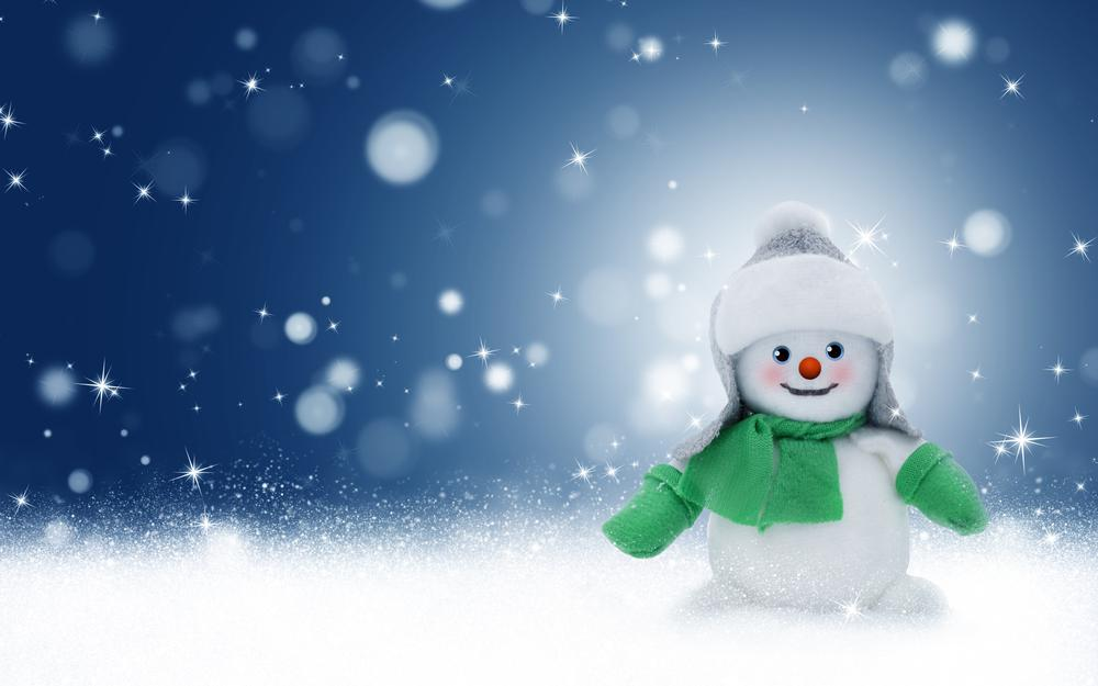 Glare, christmas, toy, new year, snowman wallpaper