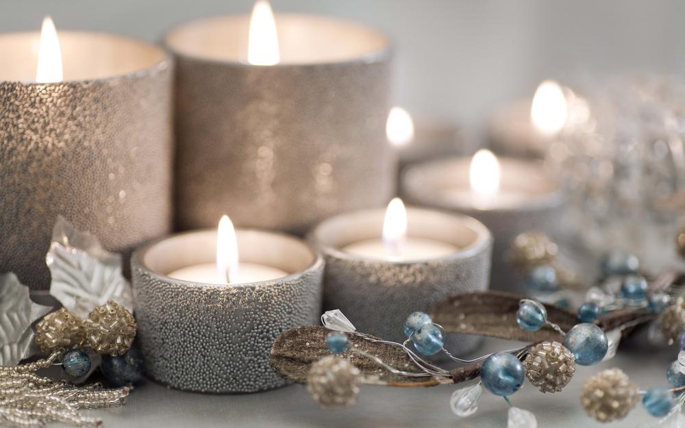 Different lights, decoration for christmas candles